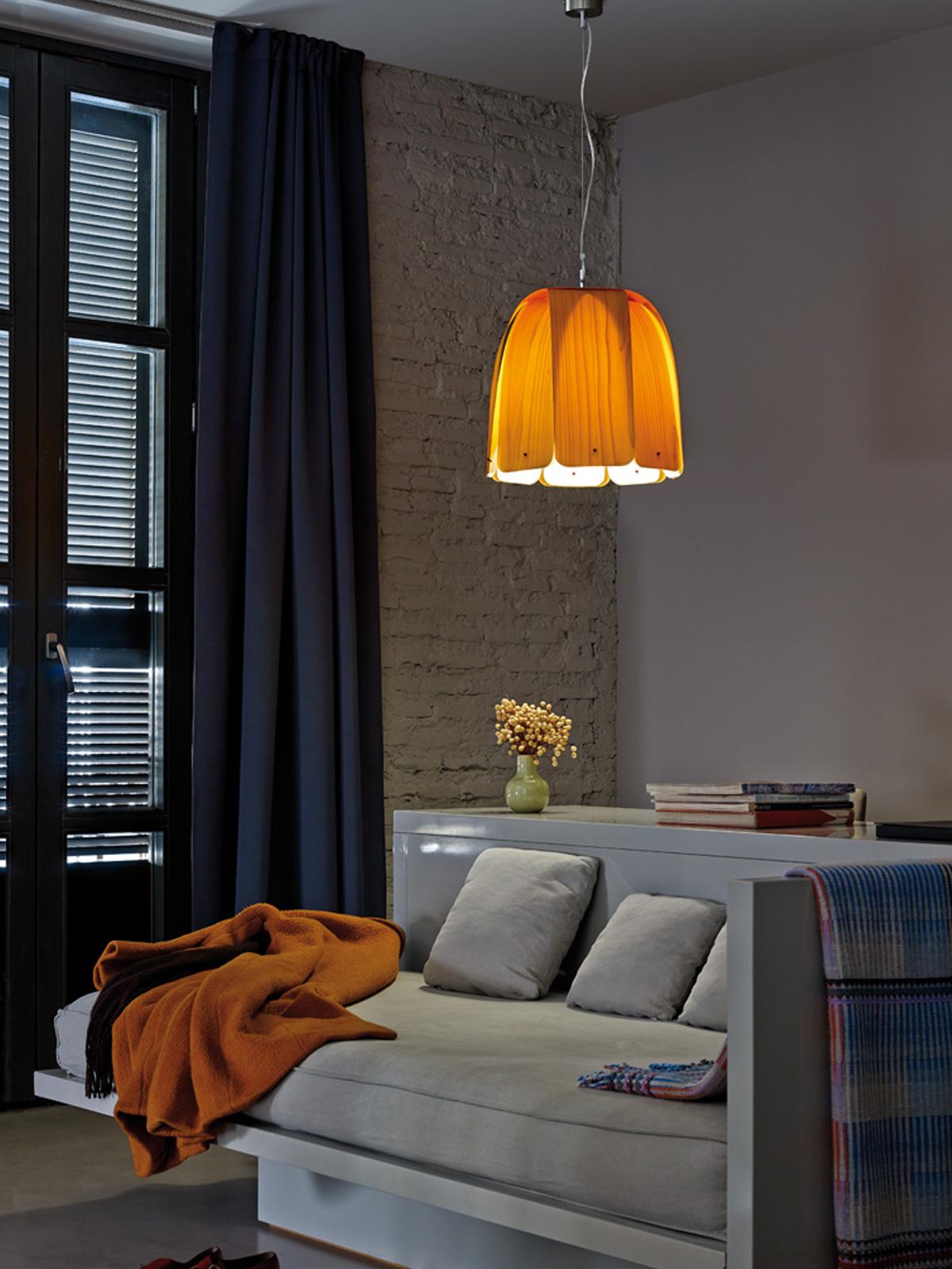 Holzlampe Domo