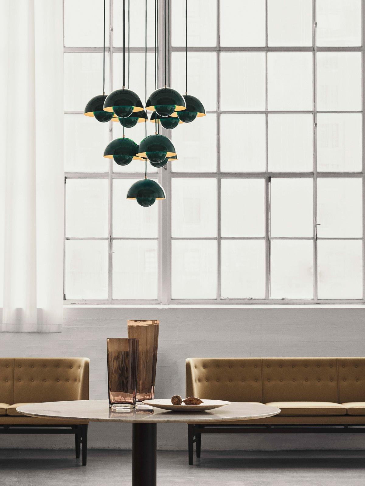 DesignOrt Blog: Flowerpot Lampenfamilie VP 1 Grün &tradition Designerleuchte DesignOrt Onlineshop Lampen Berlin