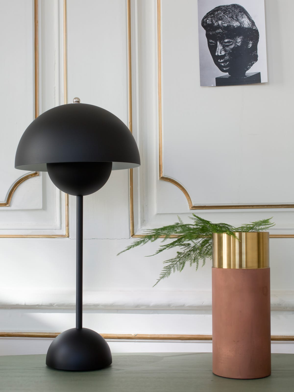 DesignOrt Blog: Bettlampen X Mal Anders &tradition Flowerpot VP 3 matt schwarz