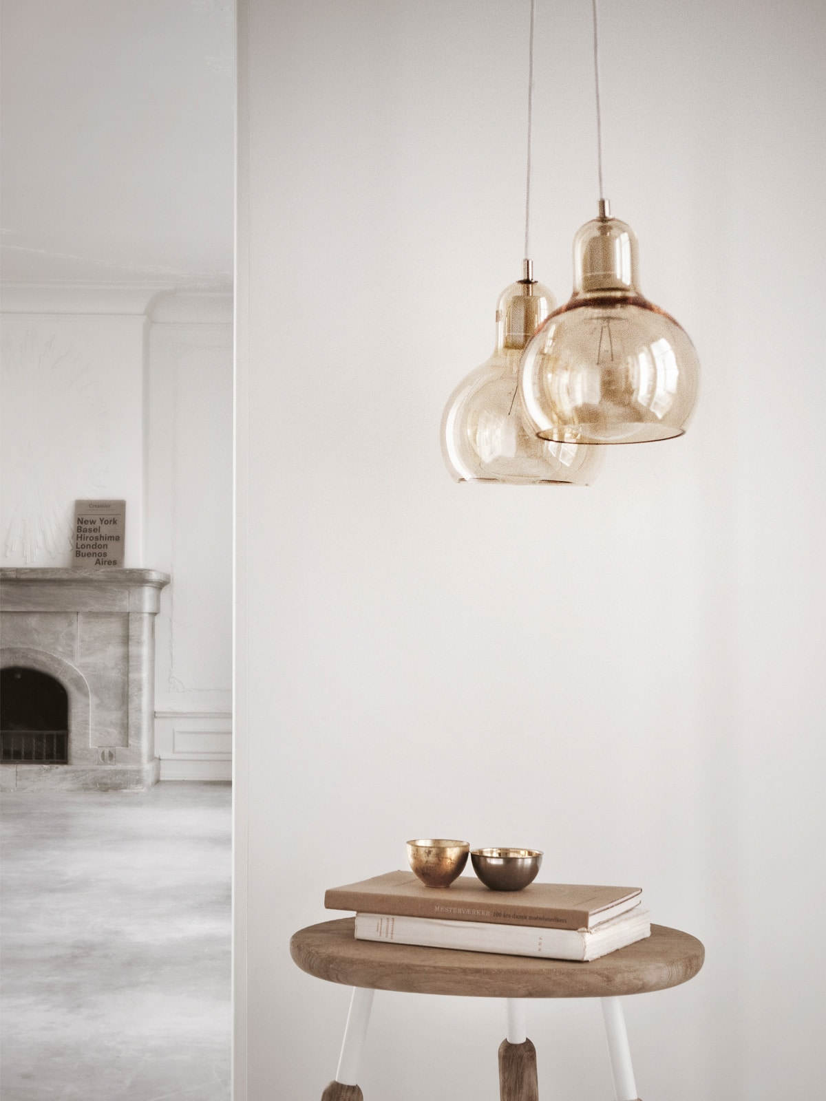 DesignOrt Blog: Pendelleuchten aus Glas &tradition Mega Bulb in Gold