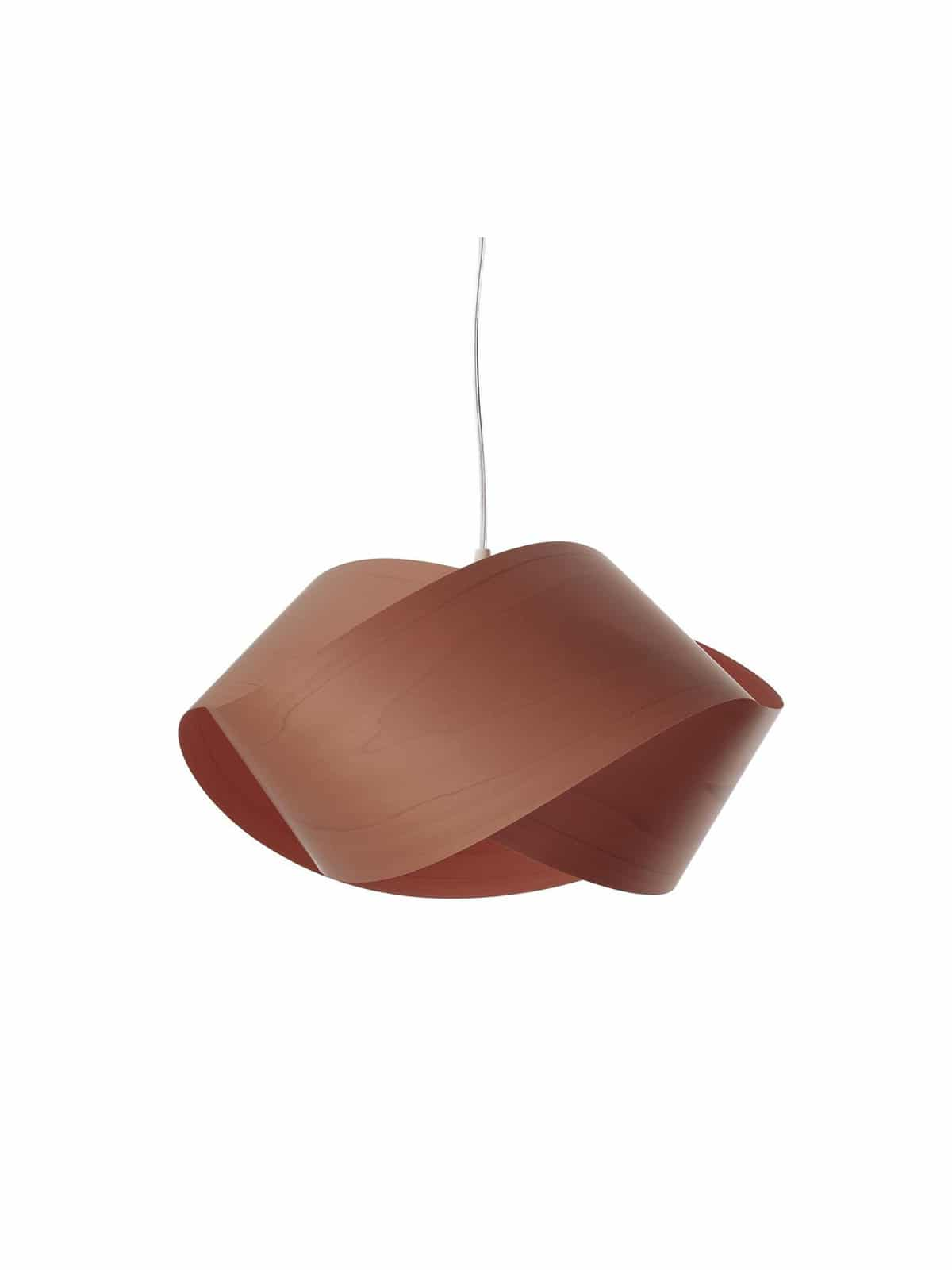 Holz Lampe Nut in choco
