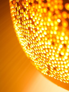 Lichtwirkung der Keramikleuchten SPONGEUP