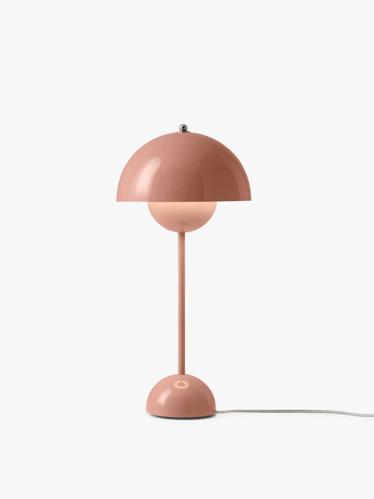 Flowerpot VP3 Tischleuchte in beige-rot (rosa)