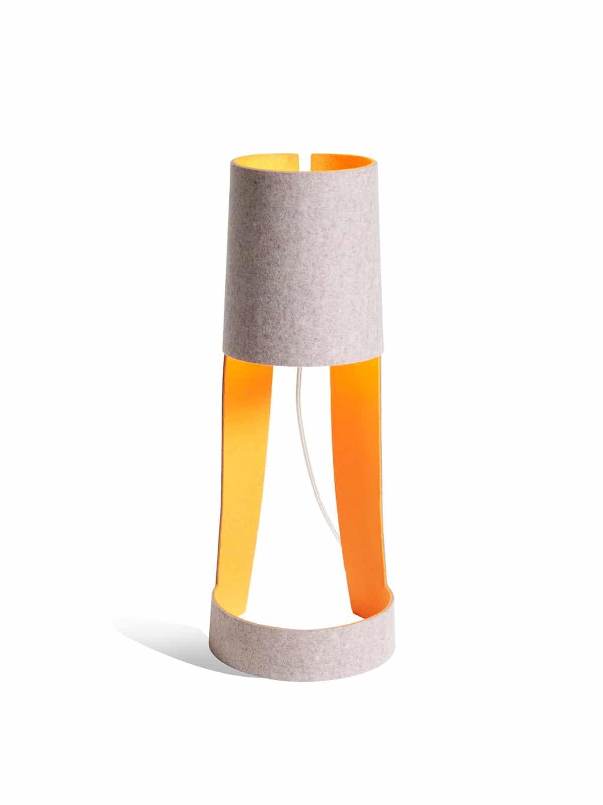 Domus Lampe Mia Orange Grau Filz Designort Onlineshop Leuchten