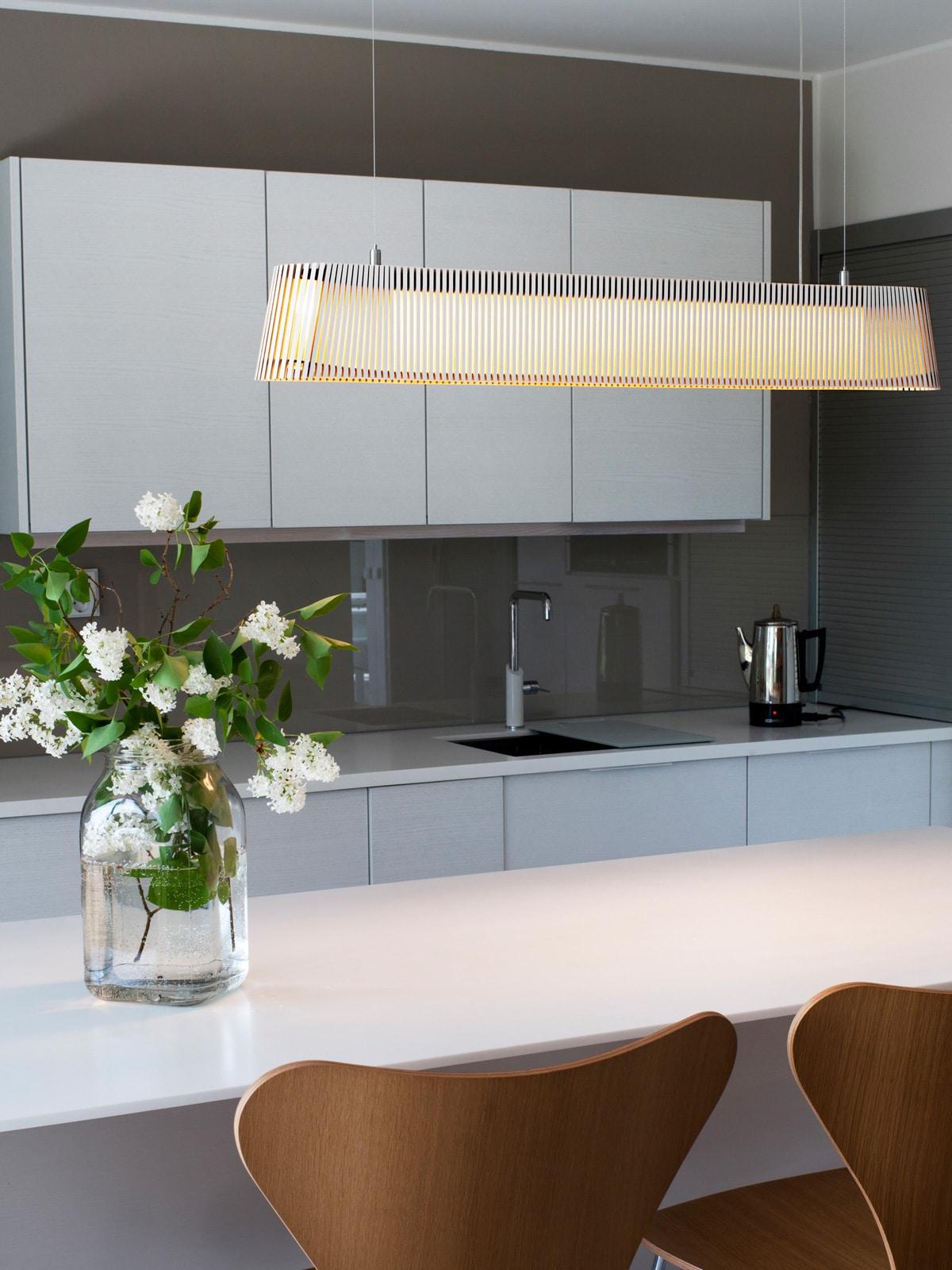 DesignOrt Blog: Pendelleuchten für den Esstisch, Owalo 7000 lange Leuchte Secto Design