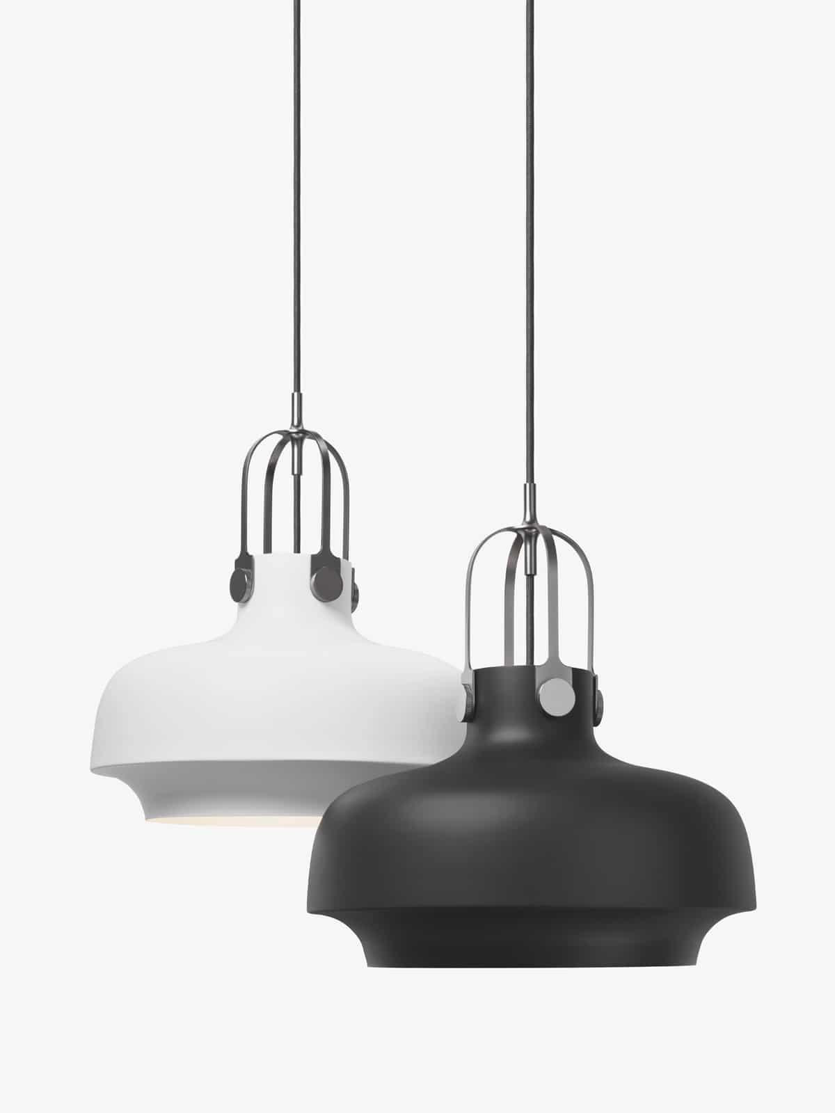 Hängelampe Copenhagen SC7 in weiß und schwarz
