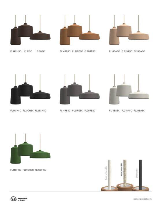 Flame Leuchtenserie Keramik Lampen Pott Designort