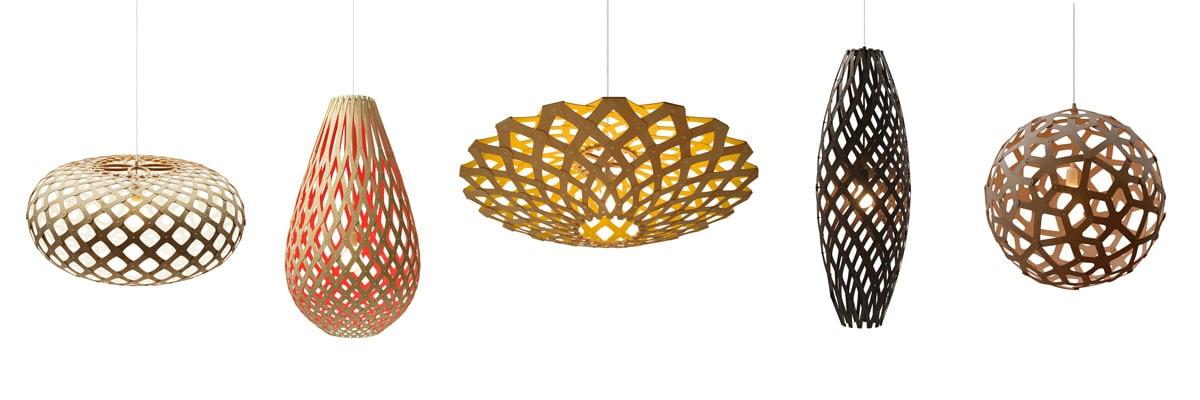 David-Trubridge-Design Pendelleuchte Bambus