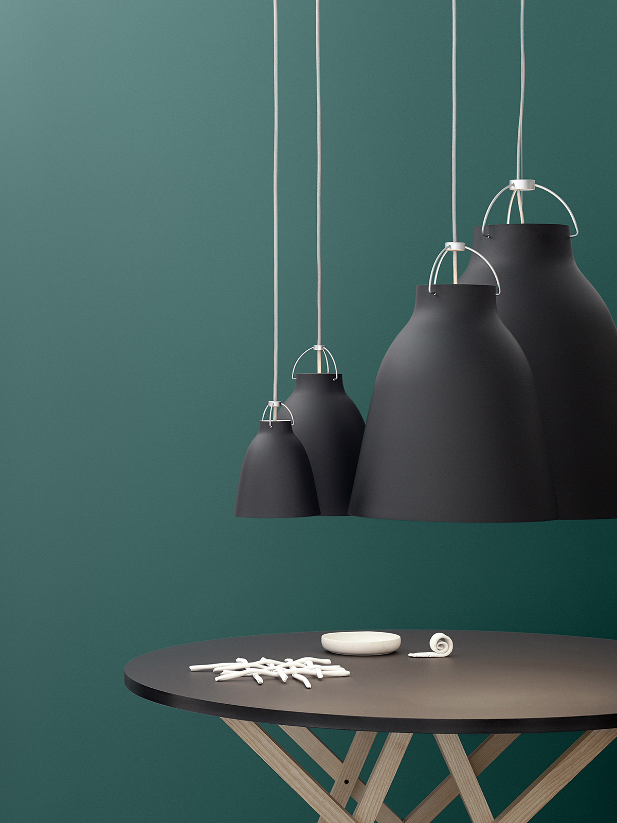 Caravaggio schwarz matt moderne Küchenlampen bei DesignOrt Onlineshop
