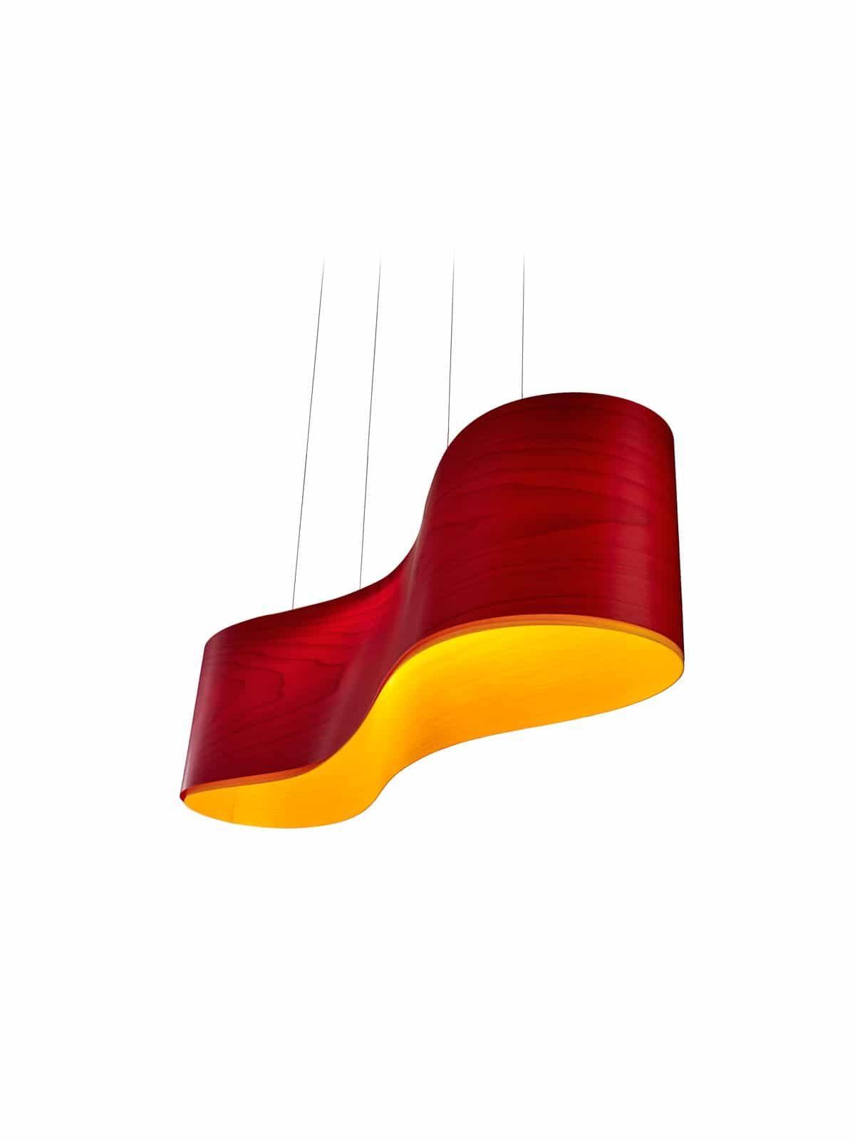Furnierholzleuchte New Wave LED