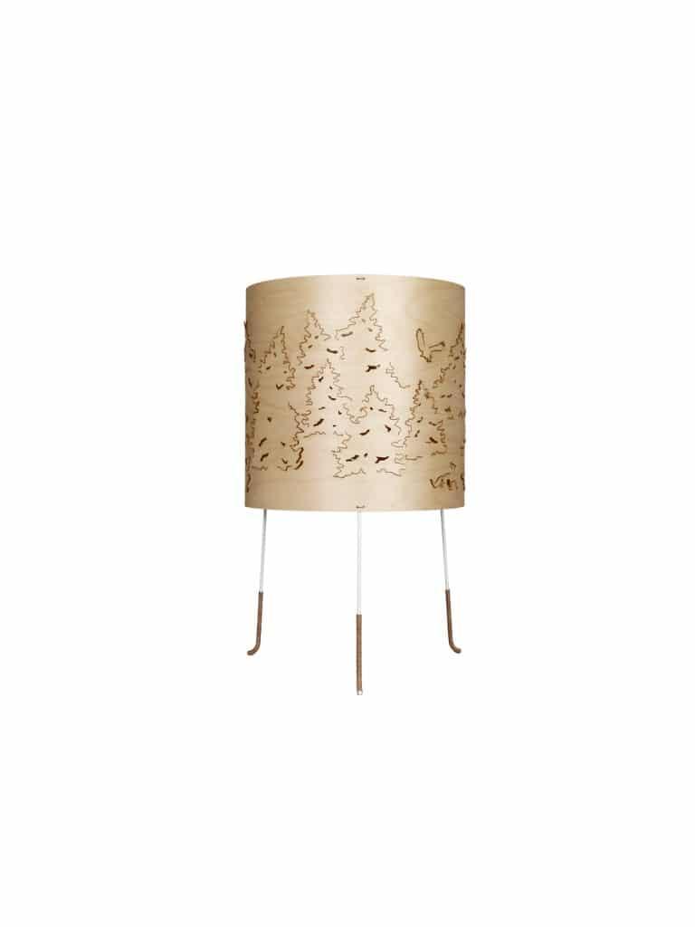 NORWEGIAN-FOREST Tischlampe für Farbideen mit Braun