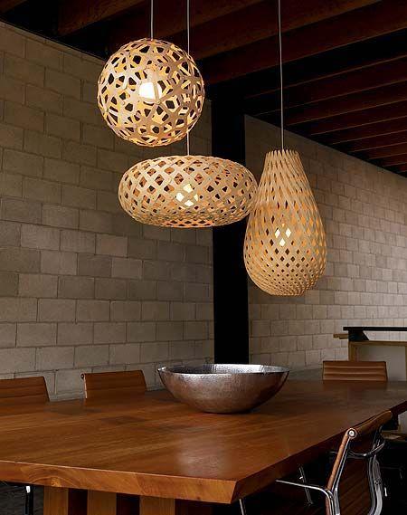 David Trubridge Design Lampen für Farbideen in Braun