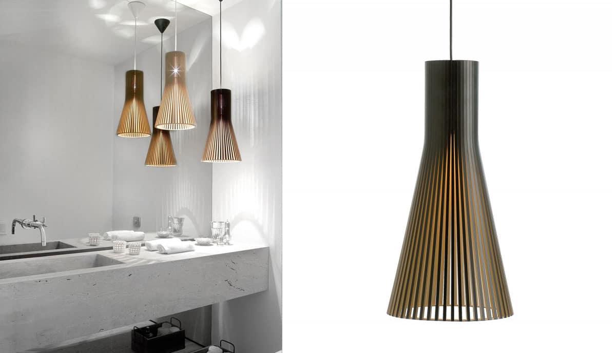 Badezimmerbeleuchtung-Secto-Design-Holzleuchten