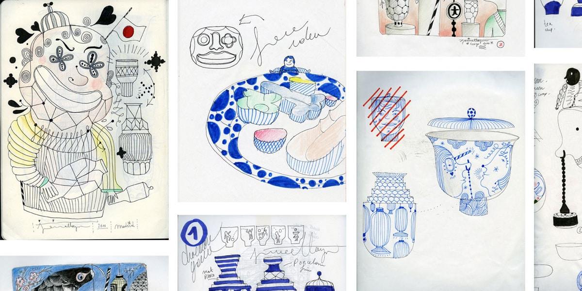 Jaime-Haydn Designsketching von Designermöbel