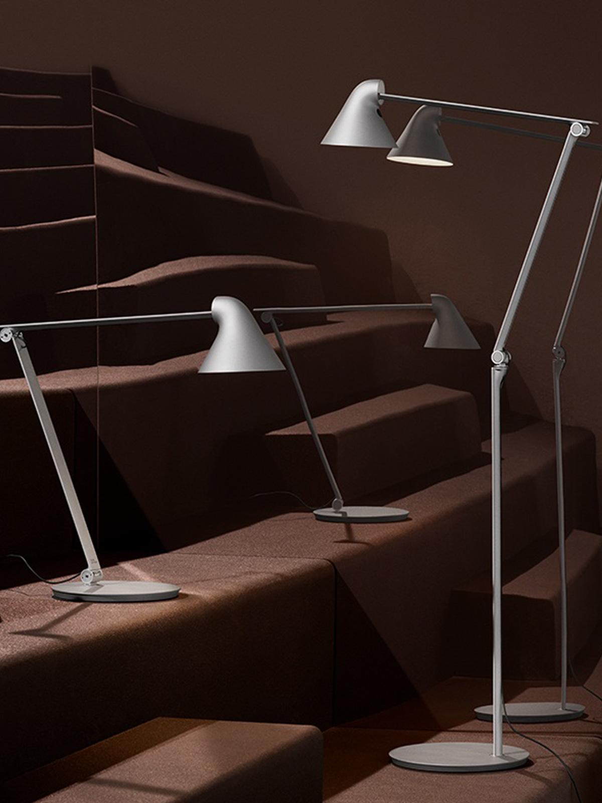 Tischleuchte Stehlampe NJP in grau