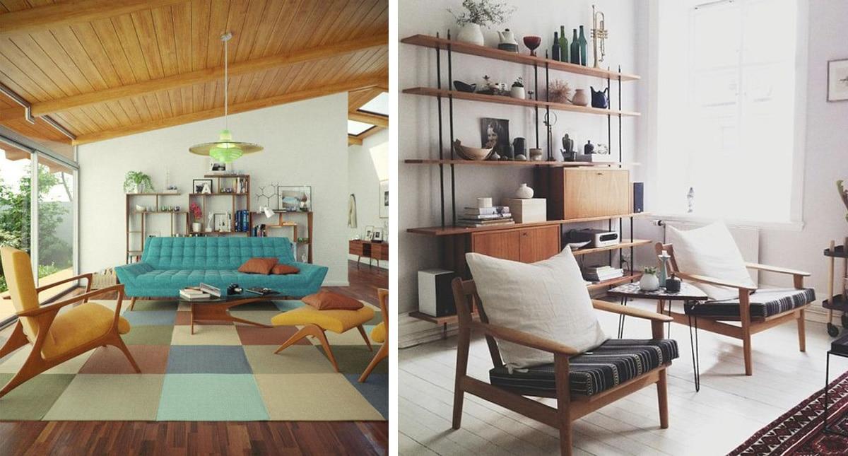 Wohnräume im Mid-Century Stil