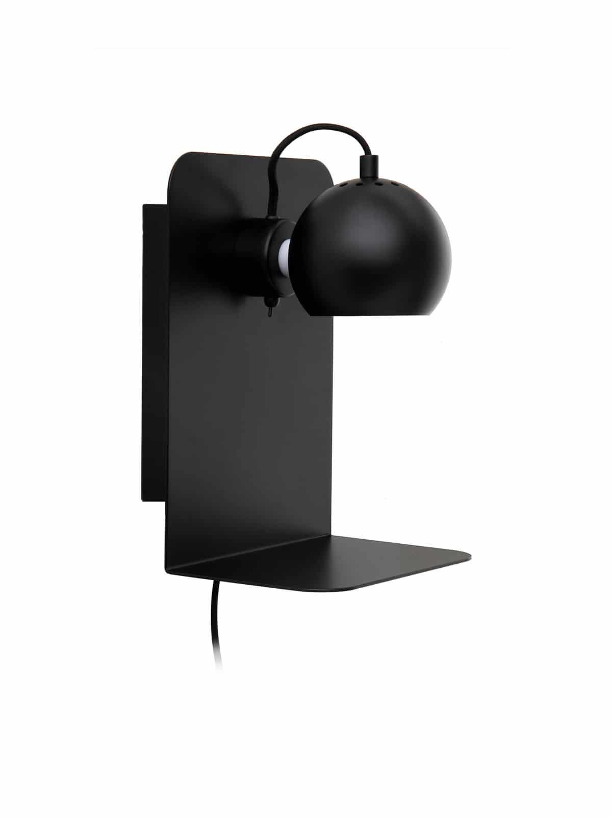 Ball USB schwarz Wandleuchte von Frandsen