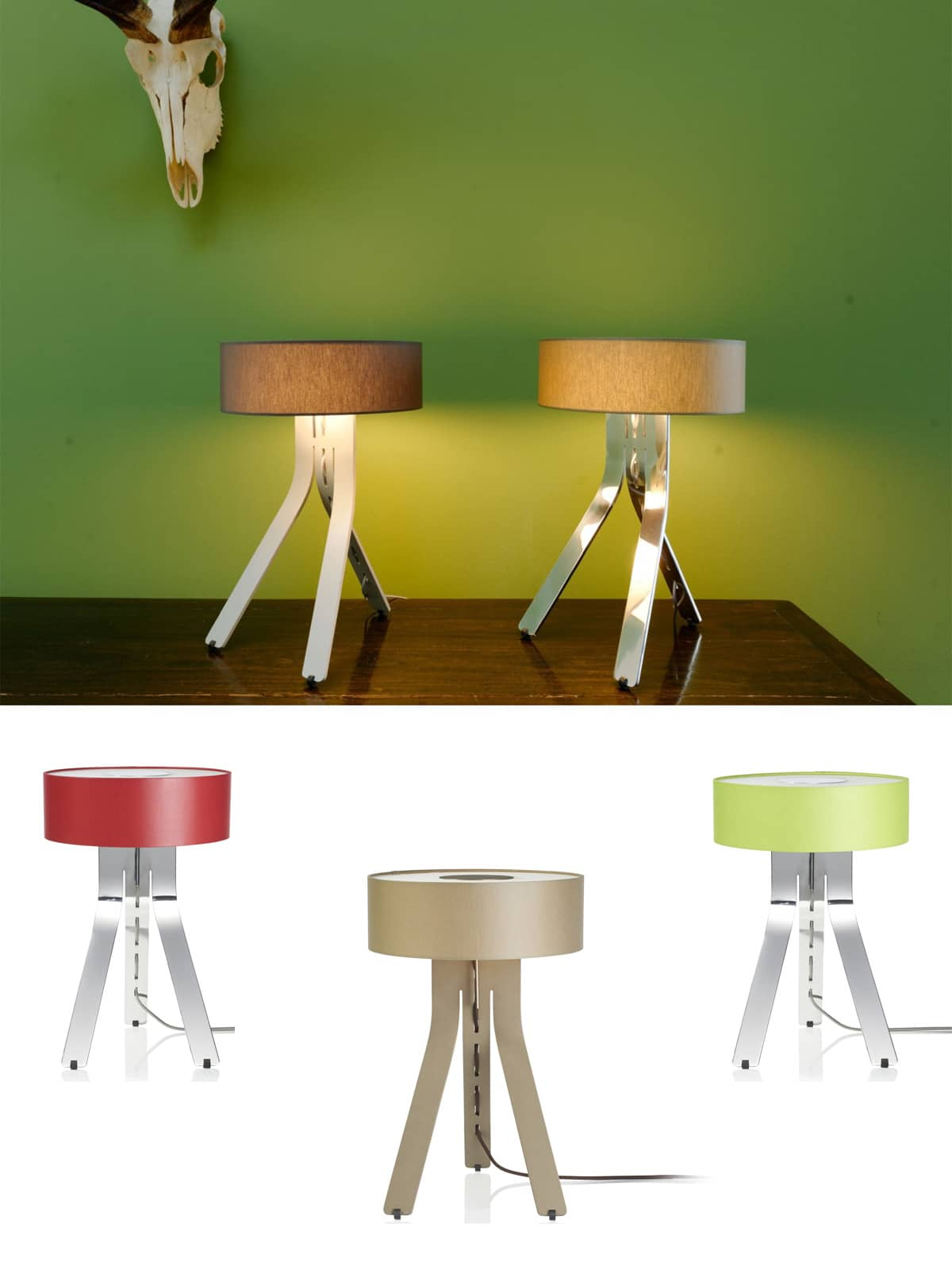 Tischlampen FINO von BYOK Aluminium Designerleuchte