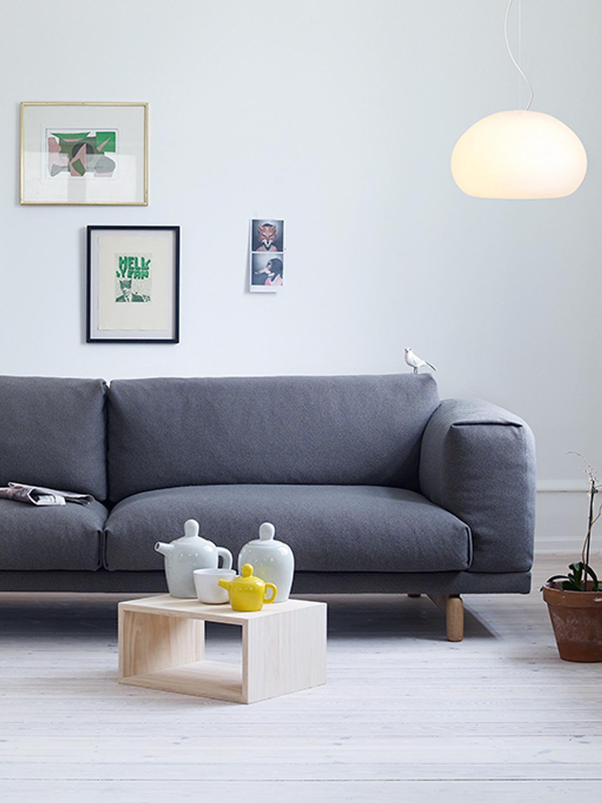 Glasleuchte Fluid im Wohnzimmer