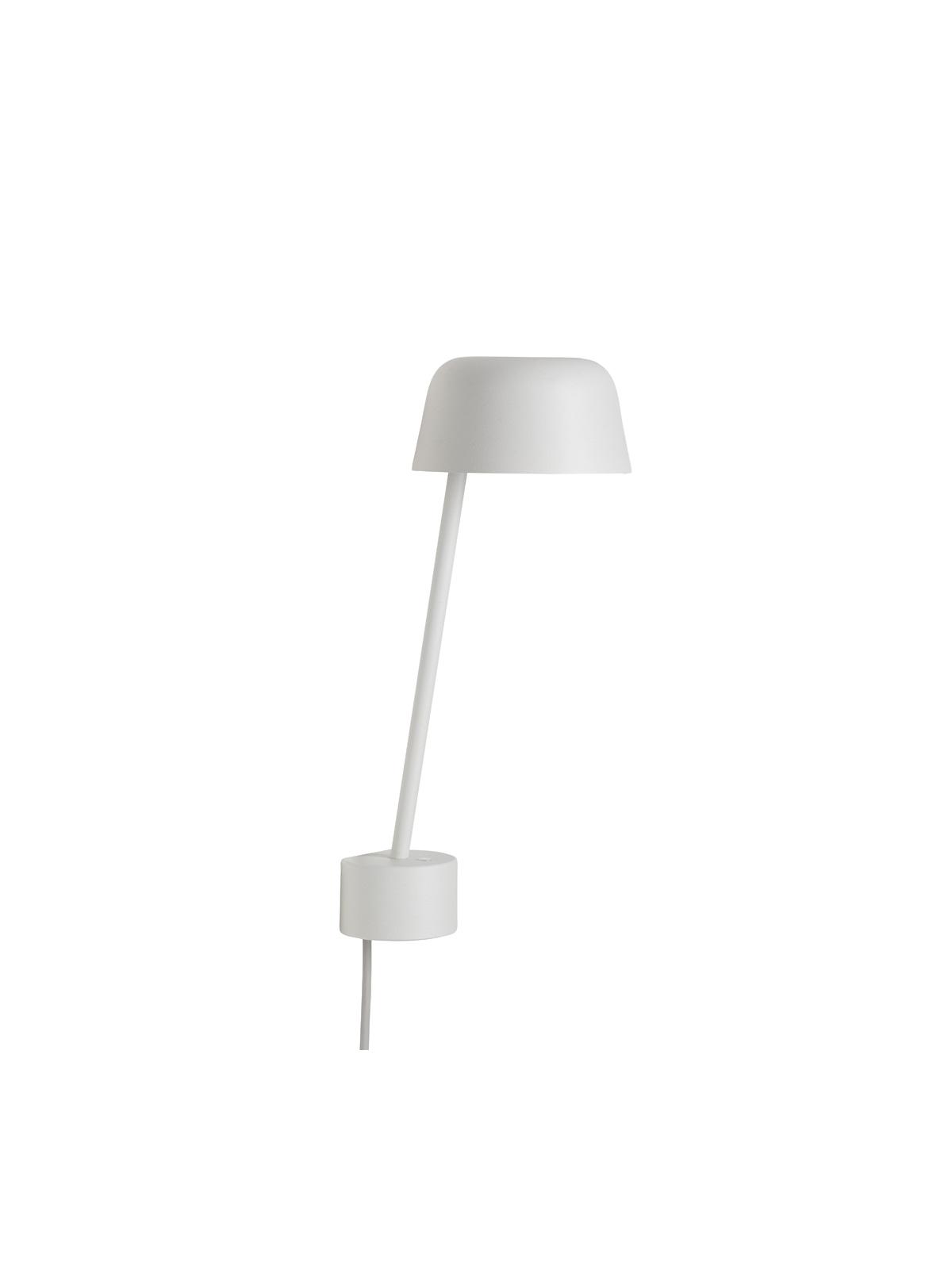 Wandlampe Lean in Weiss von Muuto