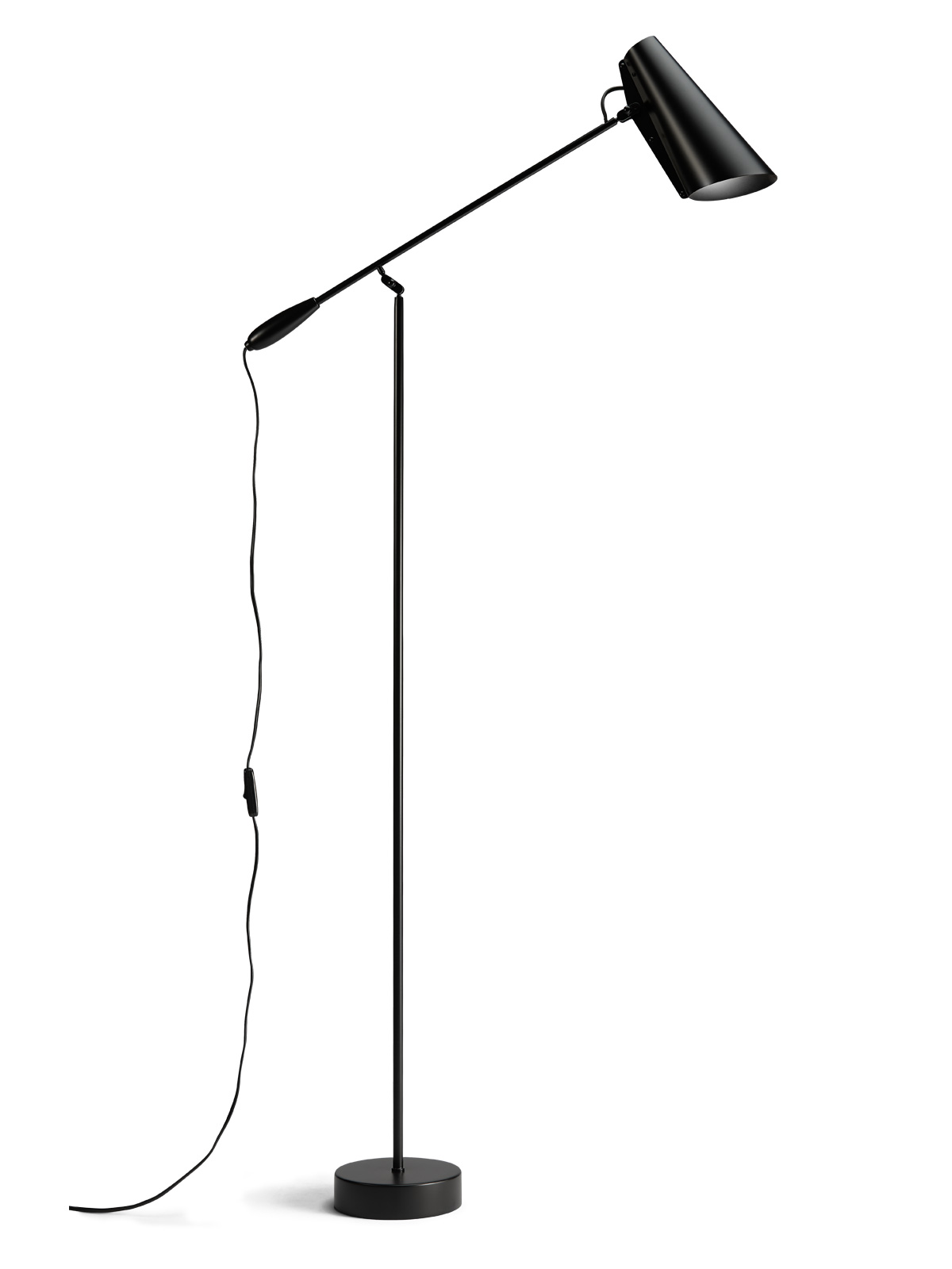 Stehlampe und Leselampe Birdy Floor in all black