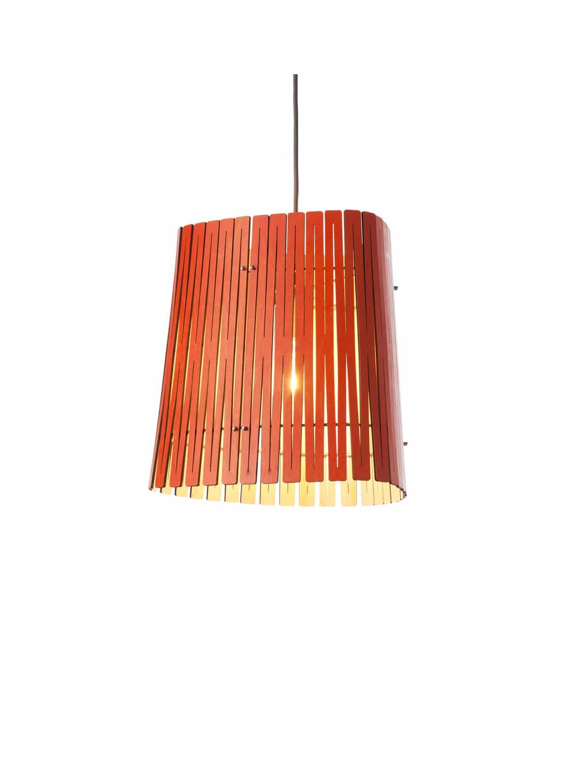 Holzlampe Kerflight P3 in Lava