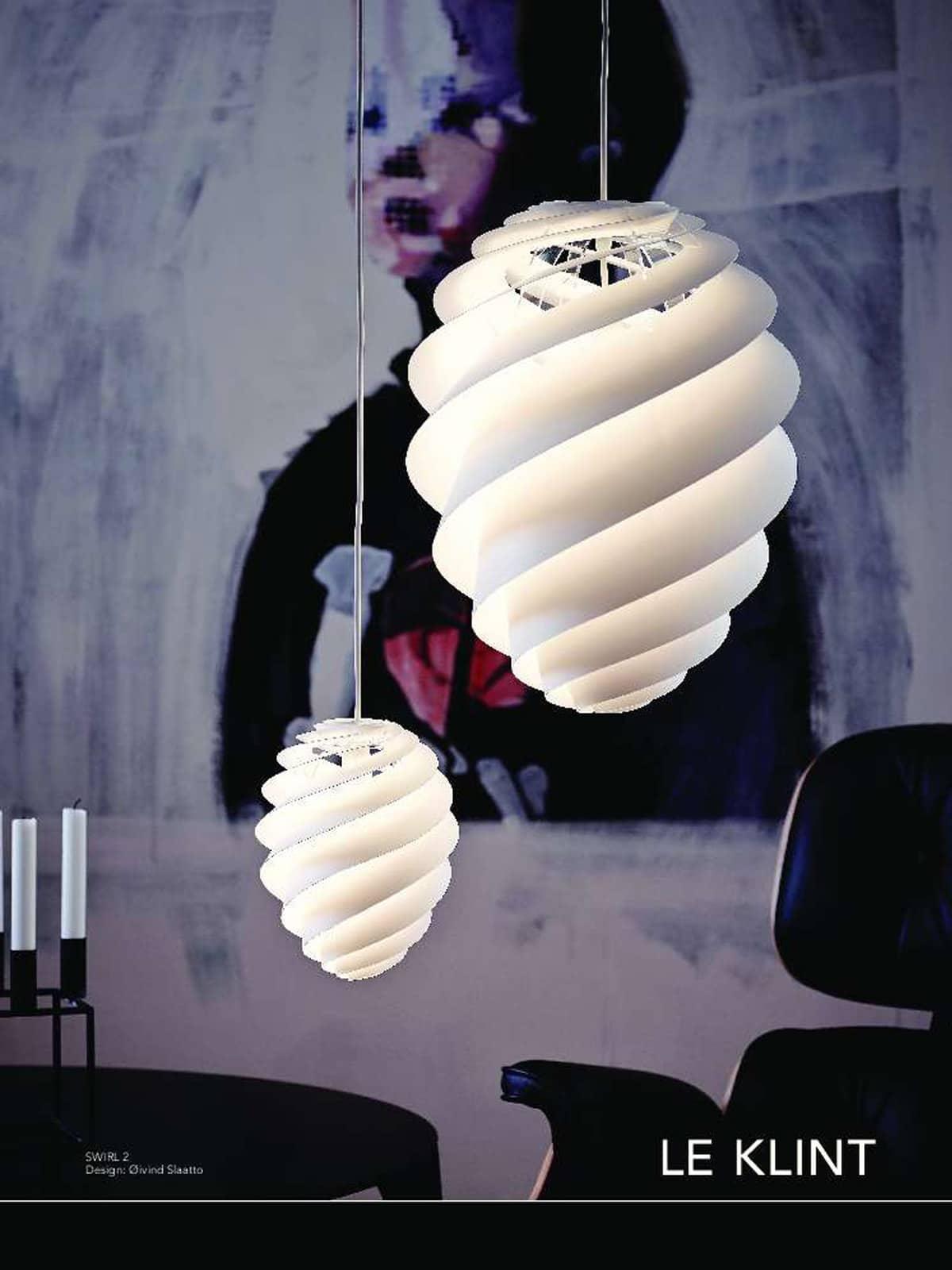 DesignOrt Blog: Die Designwelt von Le Klint Swirl Pendelleuchten