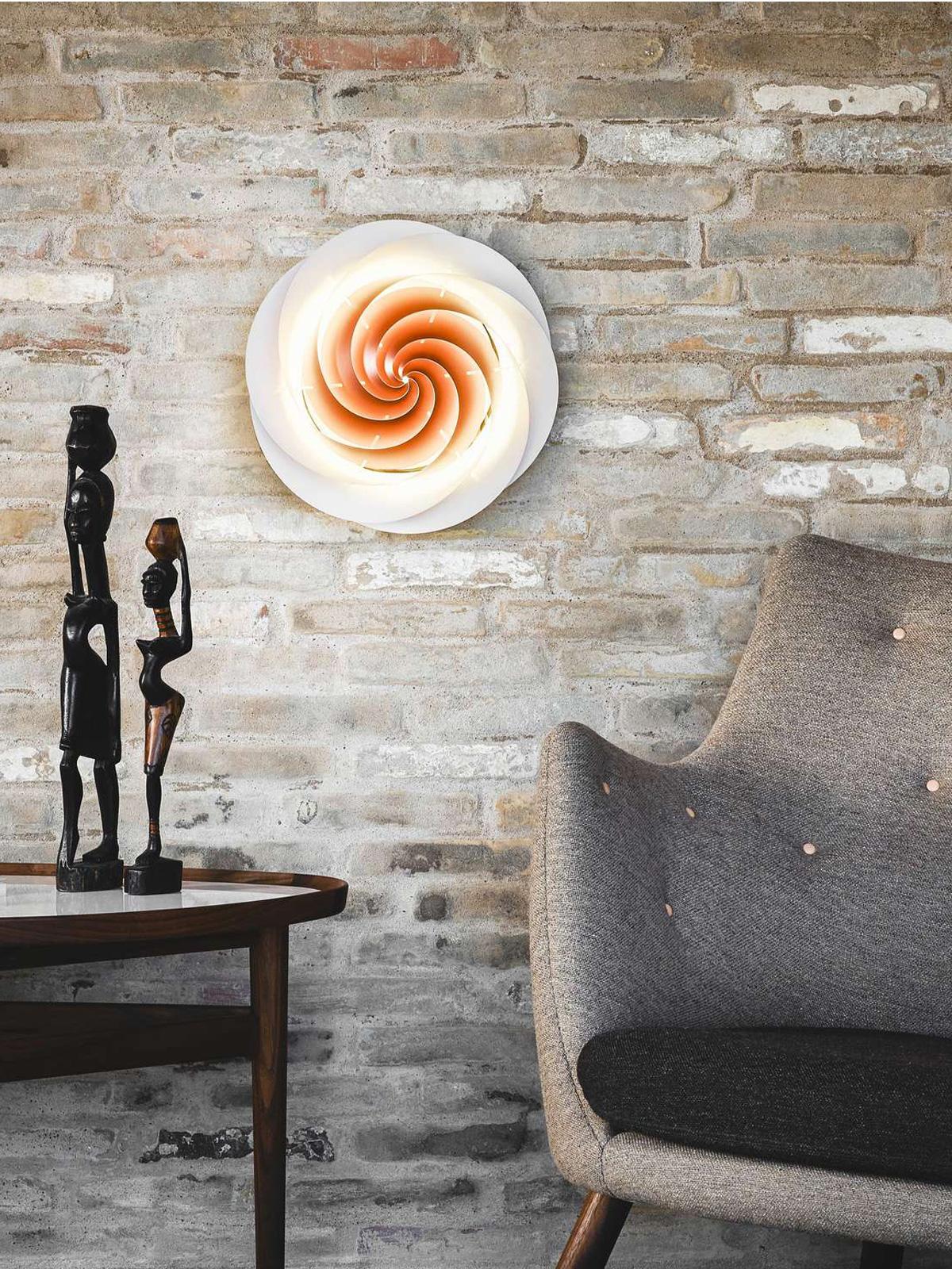 Wand und Decke Lampe Swirl