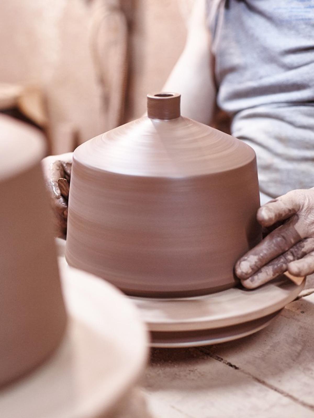 DesigOrt Blog: Designerleuchten aus Keramik Pottery project Pott Keramik Leuchte Flame 28