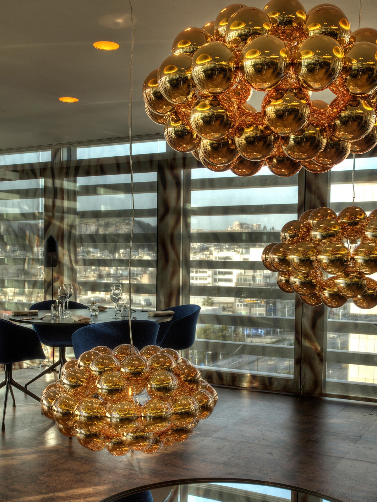 Beads Leuchten in Kupfer Gastronomie innermost