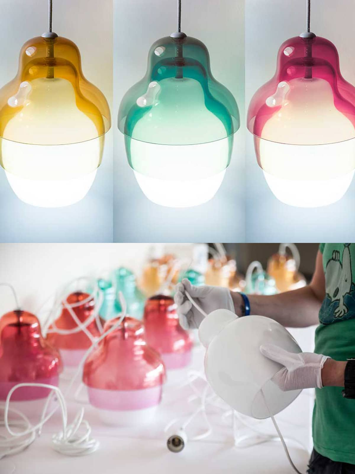 DesignOrt Blog: Trend: Farbverlauf Pendelleuchte Matrioshka Lampe Innermost