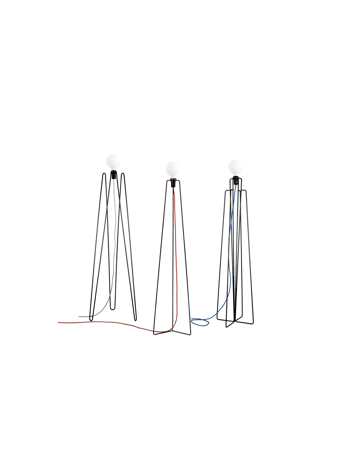 Grupa Products Model Stehlampe Stahl mundgeblasenes Glas