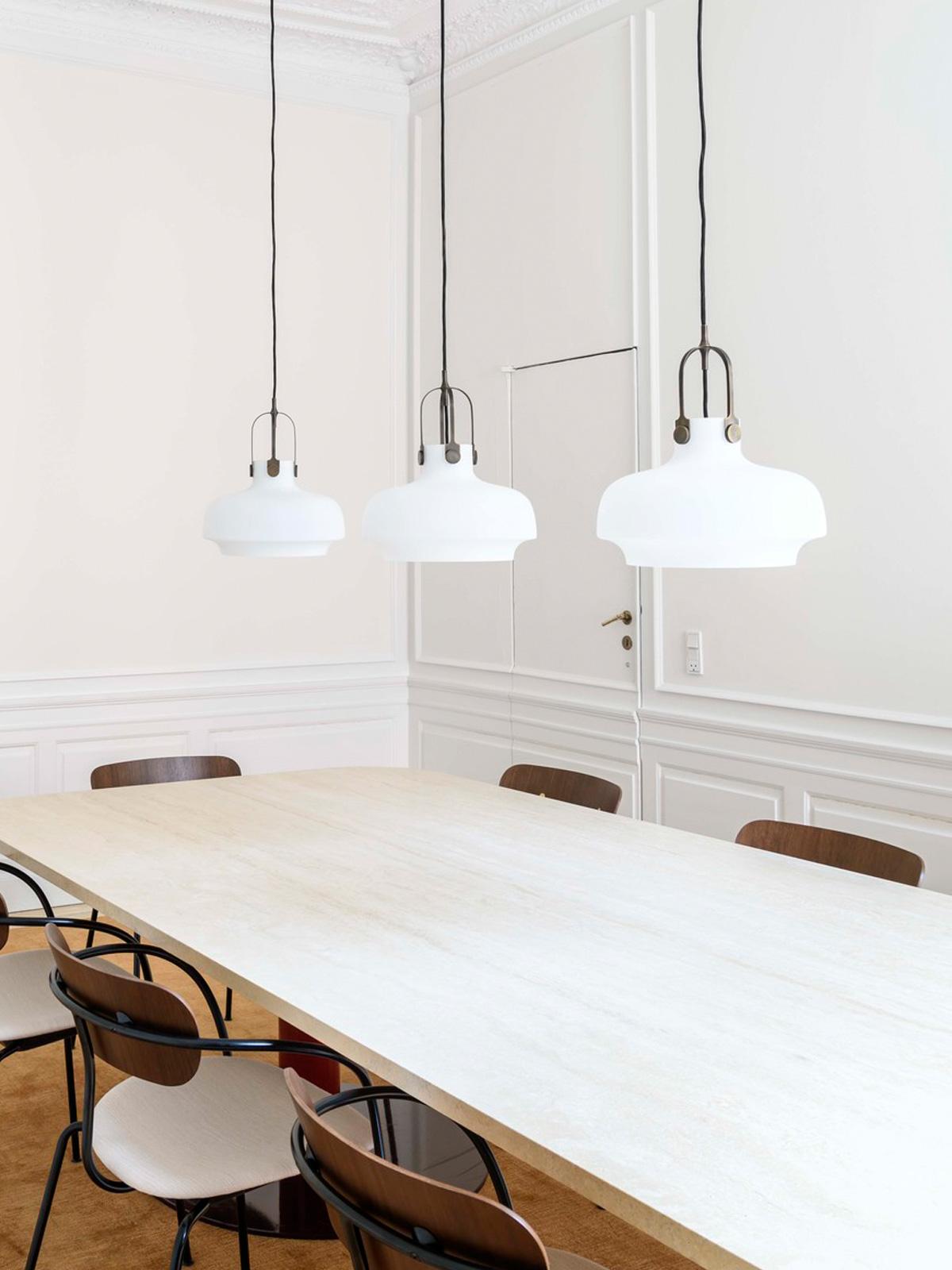 DesignOrt Blog: Dreierhängung von Pendelleuchten Copenhagen &tradition