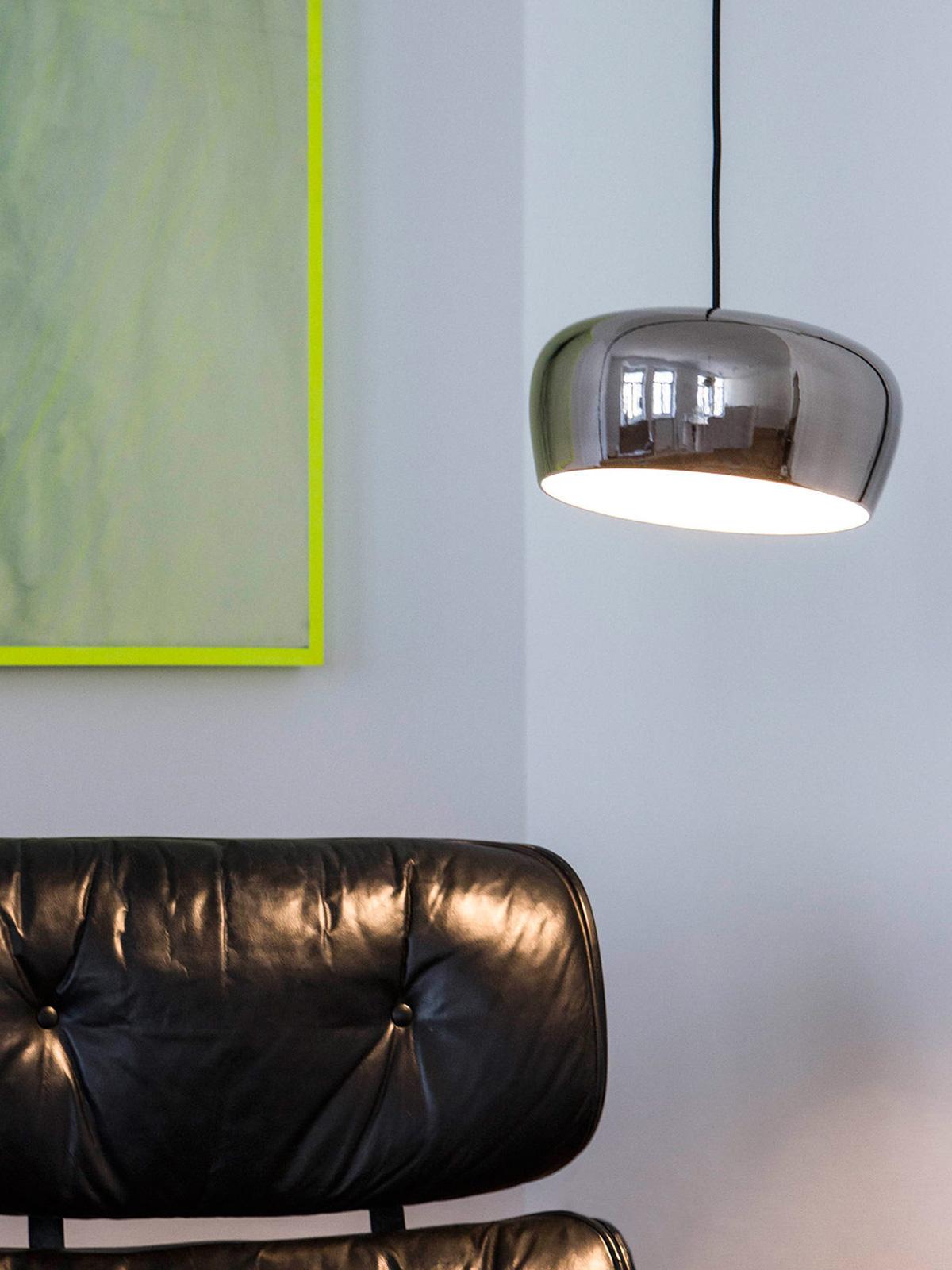 DesignOrt Blog: Designerleuchten mit variablem Lampenschirm Formagenda Coppola Lampe