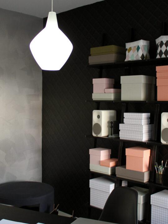Orno Innolux Lampe Sipoli aus Opalglas