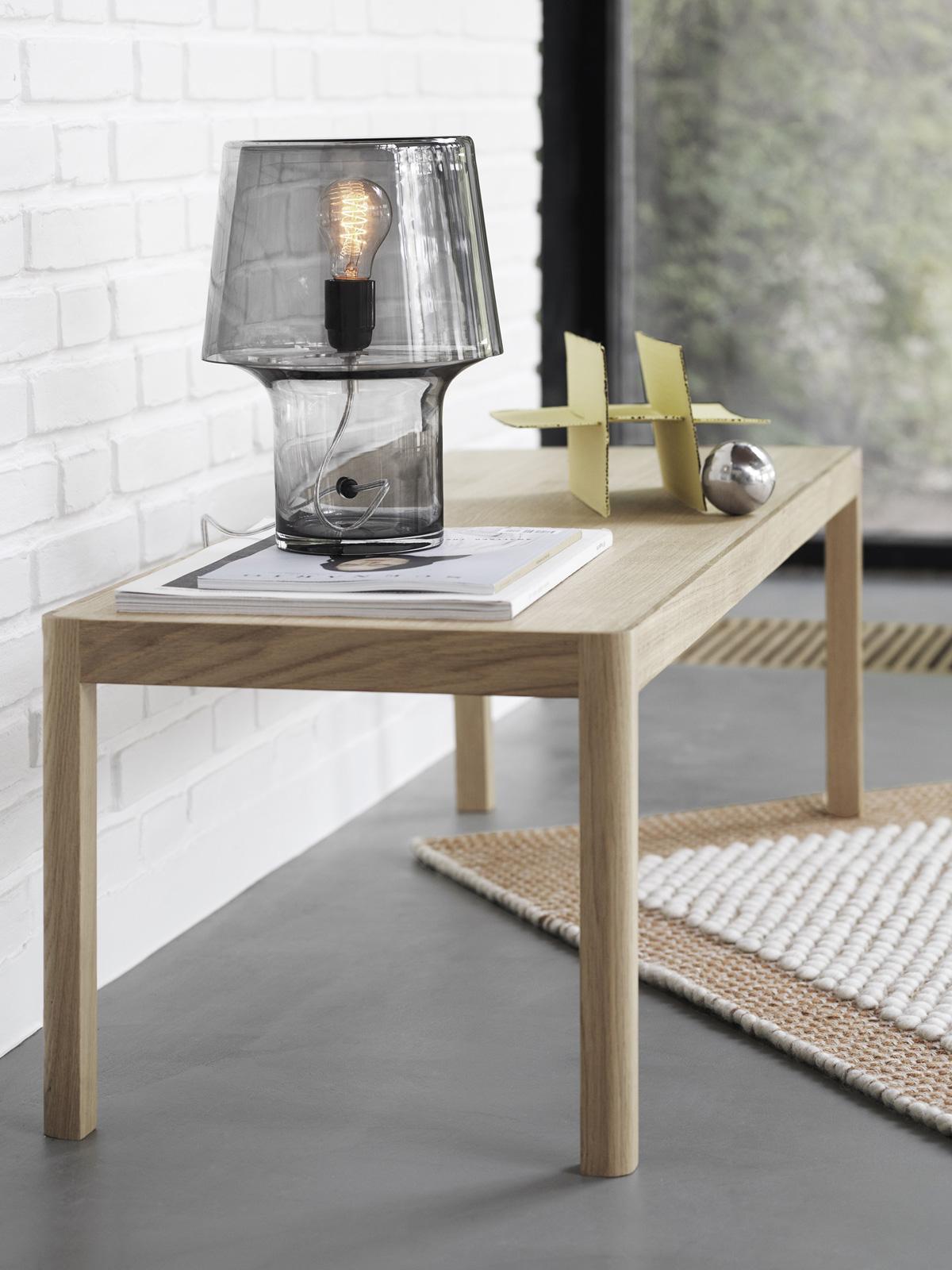 DesignOrt Blog: Best of Skandinavische Designer Tischlampe von Muuto Cosy in Grey Glasleuchte