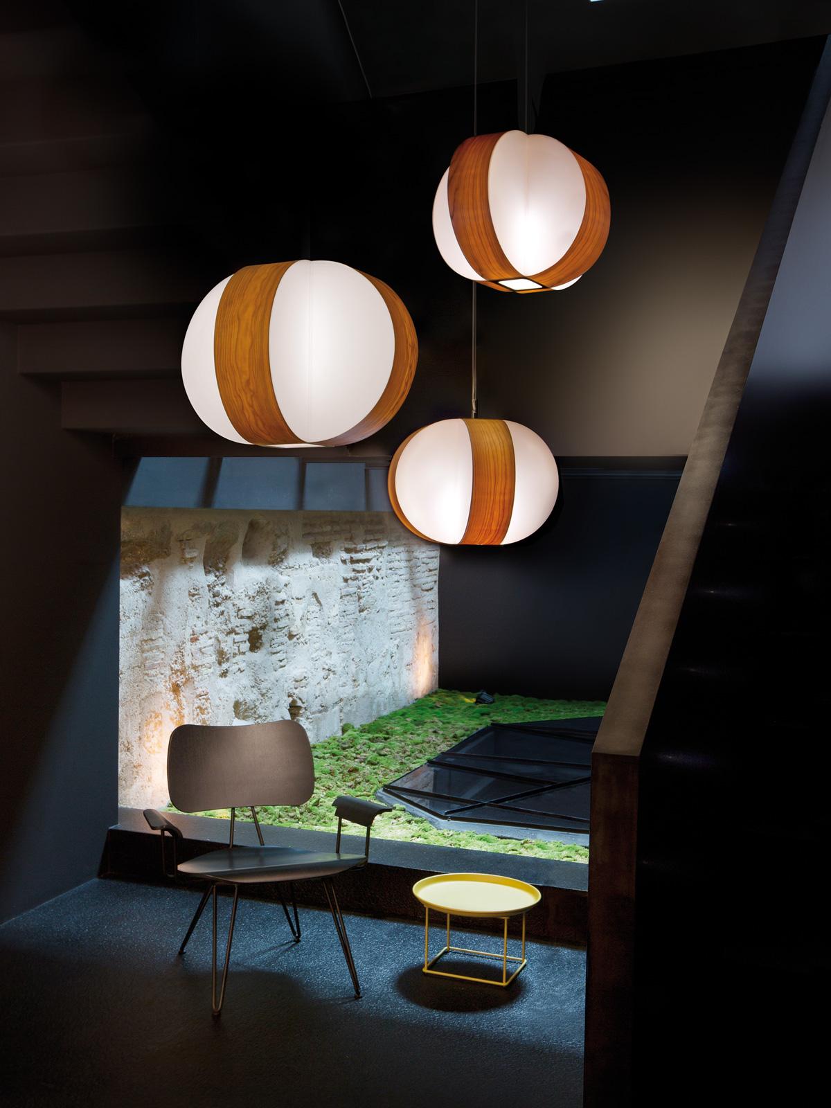 DesignOrt Blog: Drei mal Pendelleuchten LZF Lamps Carambola Dreierhängung