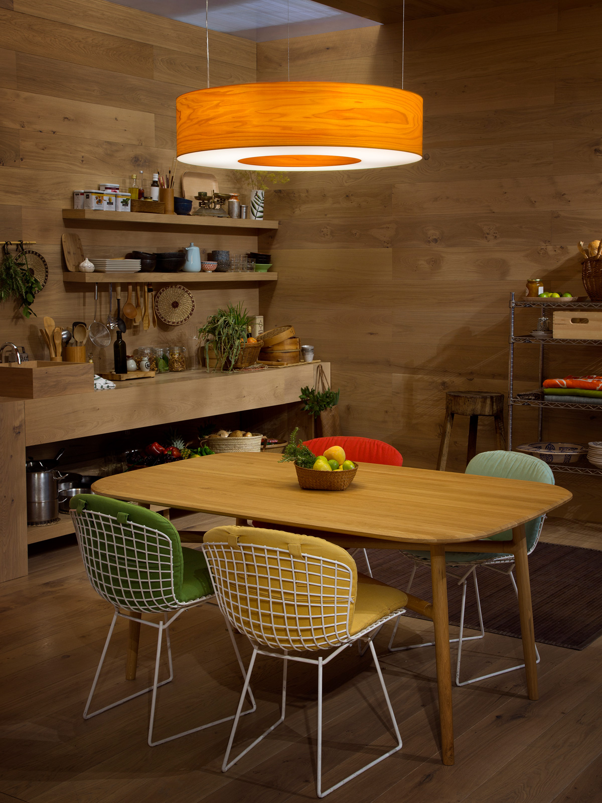 Saturnia LZF Holzleuchte in 11 Farben Handarbeit aus Spanien