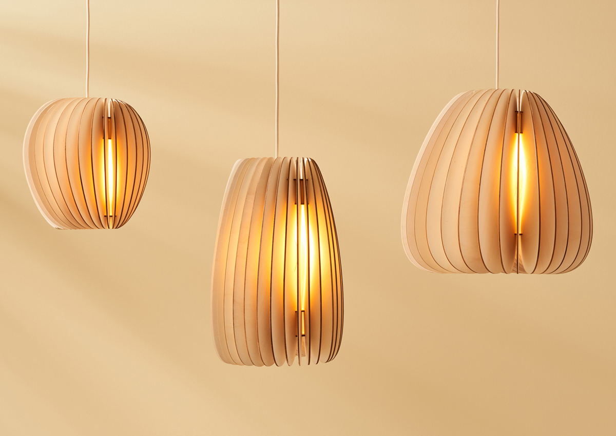 DesignOrt Blog: Holzlampen Serie A von Schneid Holzleuchten