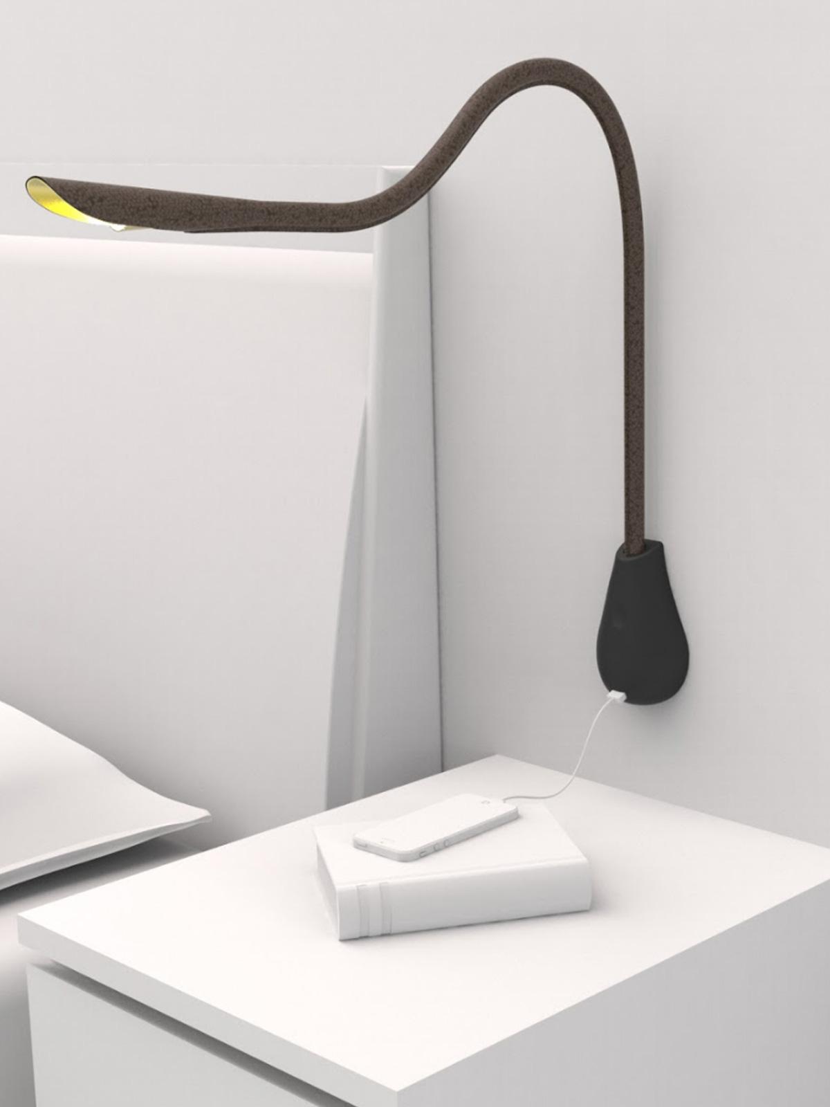 DesignOrt Blog: Leuchten die dein Handy laden Innermost Cobra Wandleuchte Wandlampe