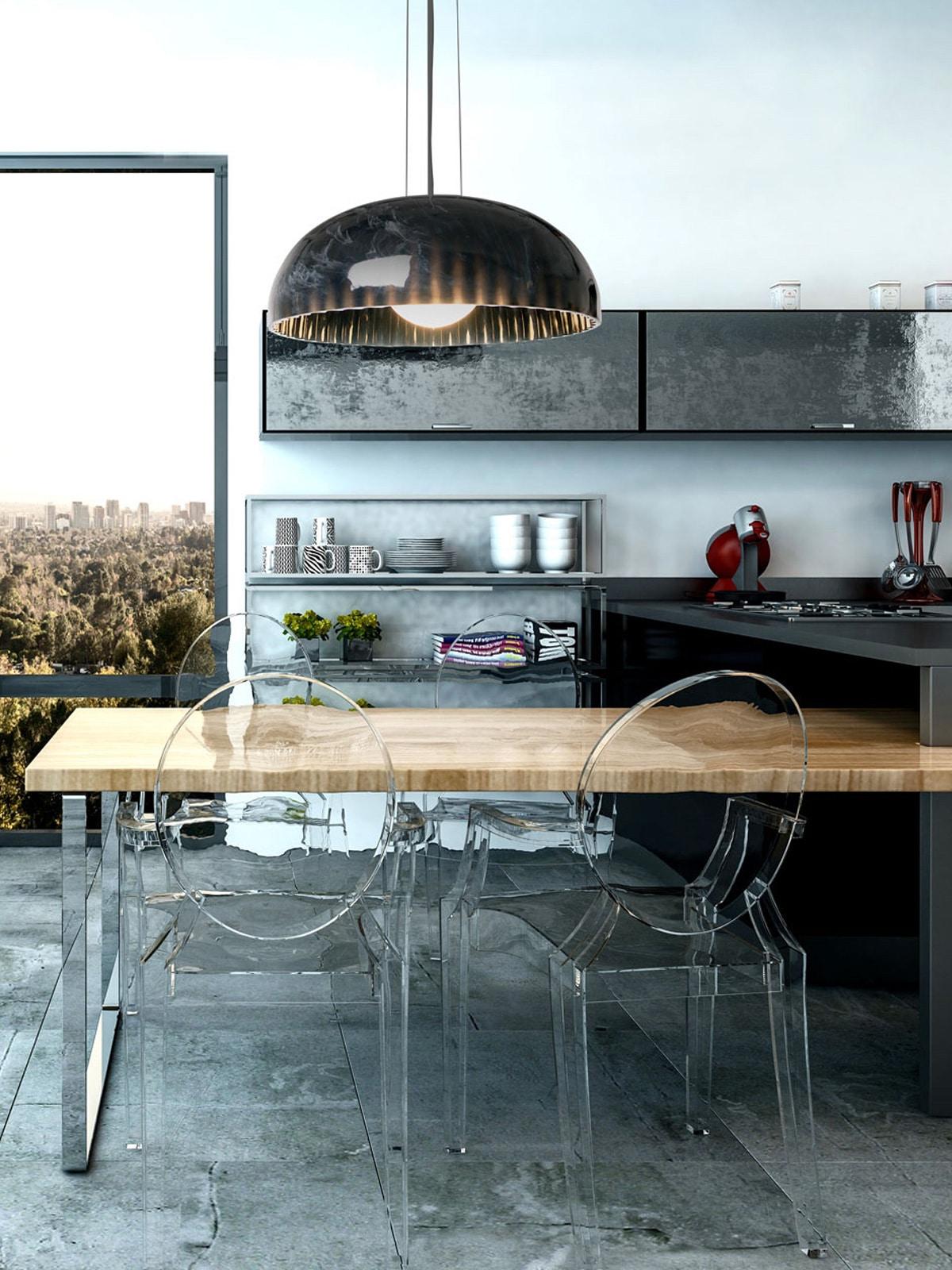 DesignOrt Blog: Designerleuchten aus Marmor nachhaltige Pendelleuchte Doric aus Harz von Innermost im Marmor Look