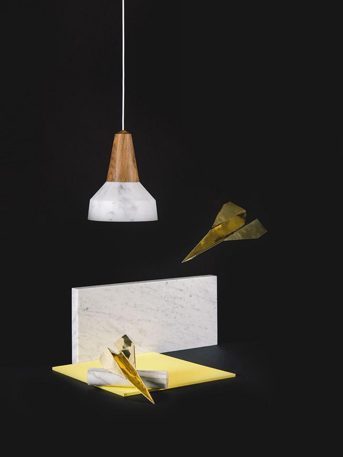 DesignORt Blog: Designerleuchten aus Marmor Pendelleuchte im Marmor Look von Schneid Eikon Bubble