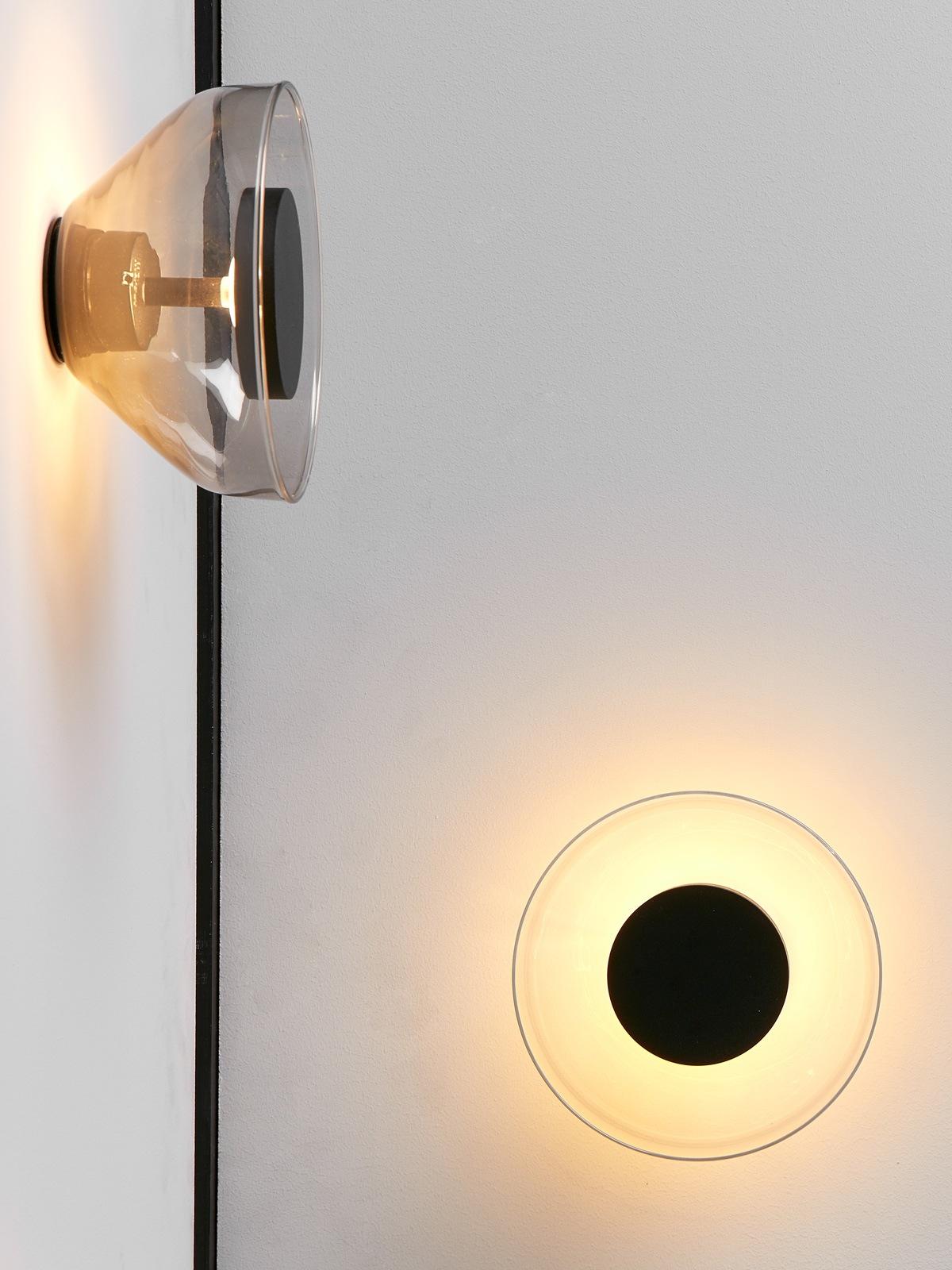 Aura Wandleuchte Morset mundgeblasenes Glas LED dimmbar