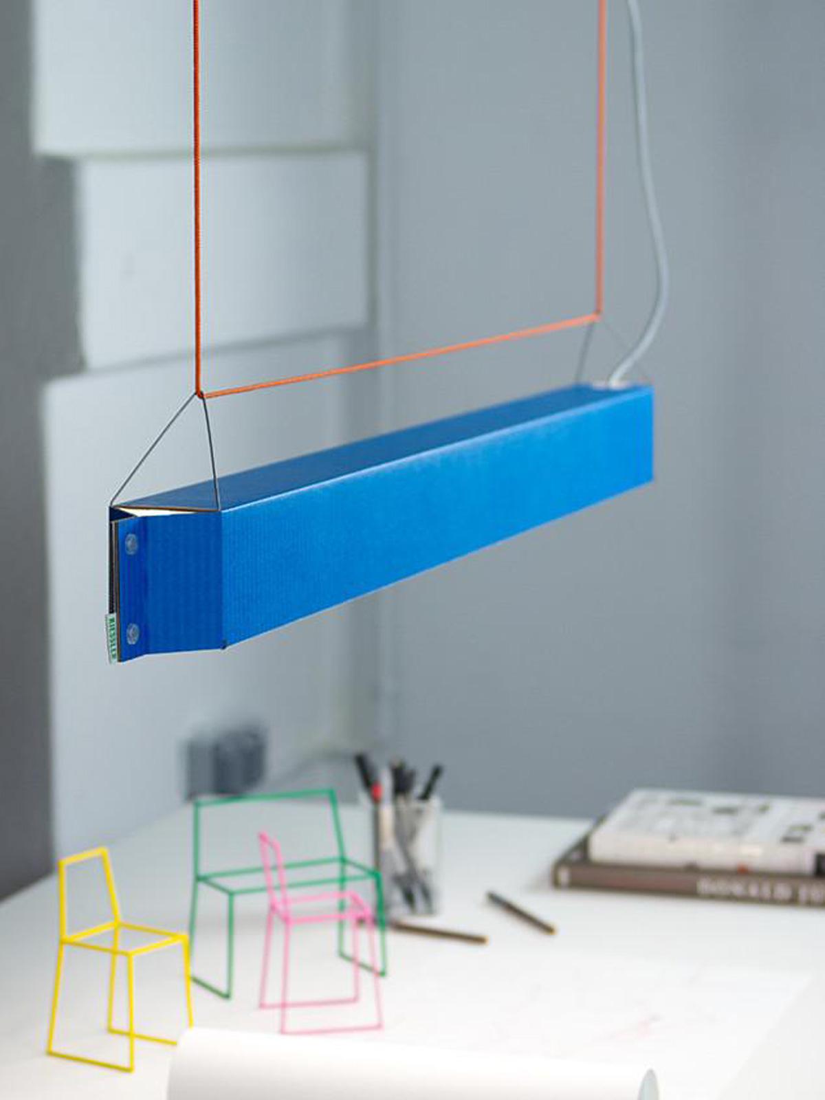 Pappleuchte NUMEROUNO von Kiessler bei DesignOrt