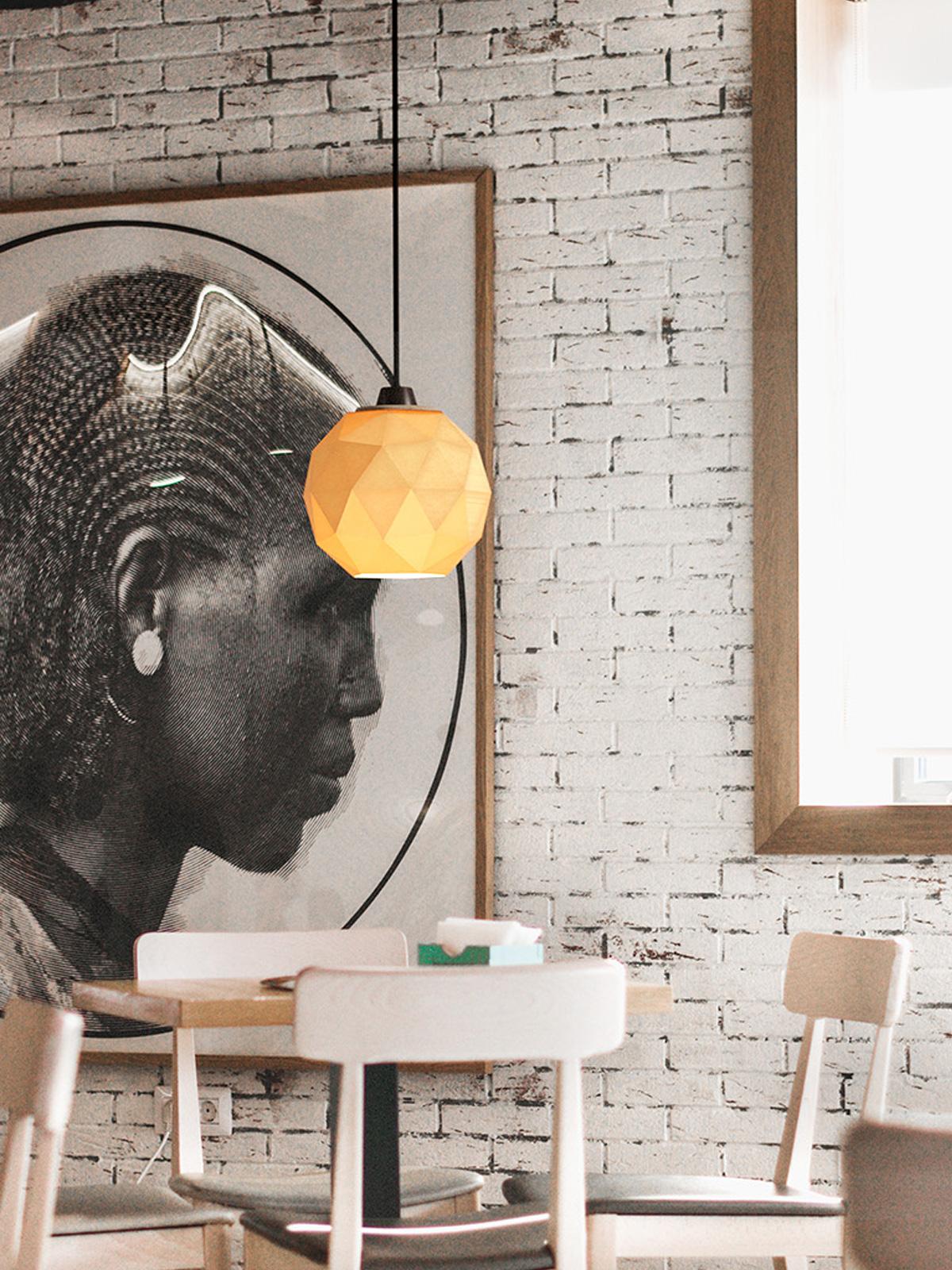 DesignOrt Blog: Die Designwelt von Polyluma Mono Ico Pendelleuchte aus dem 3 D Drucker