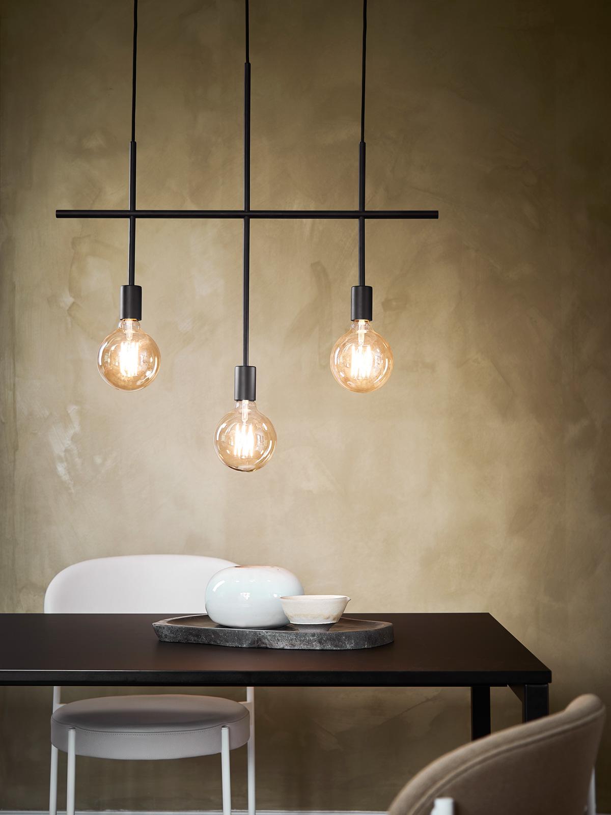 DesignOrt Blog: Leuchten für den Esstisch dreiflammige Pendelleuchte moderner Kronleuchter Frandsen