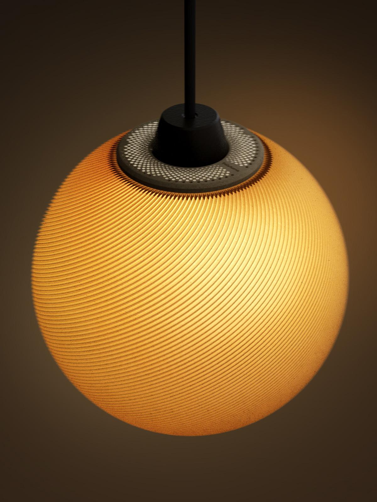 Mono Lambert Polyluma Lampe Leuchte Design 3D DesignOrt nachhaltig