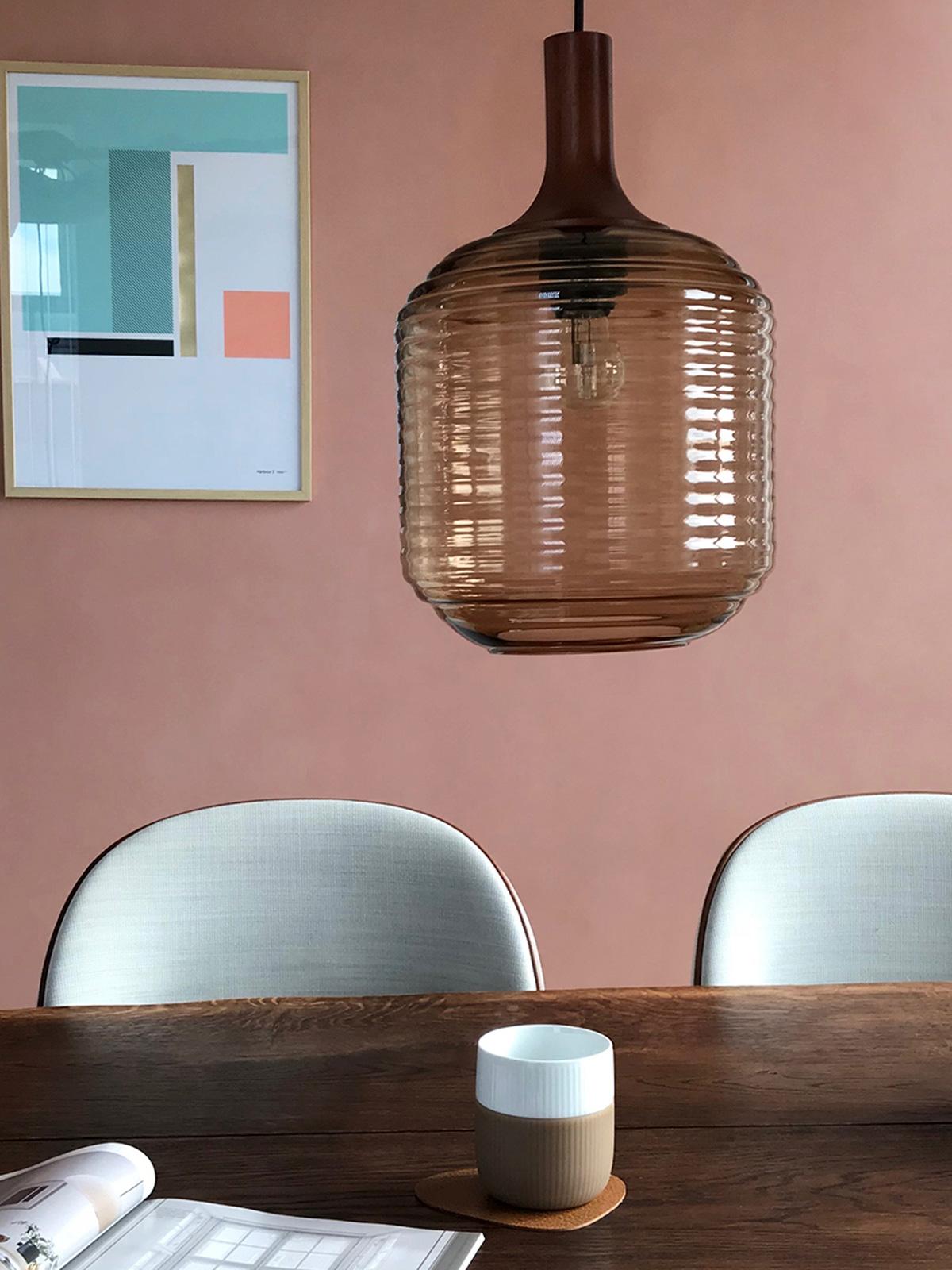 Honey Amber Glasleuchte Frandsen Design skandinavisch Lampe
