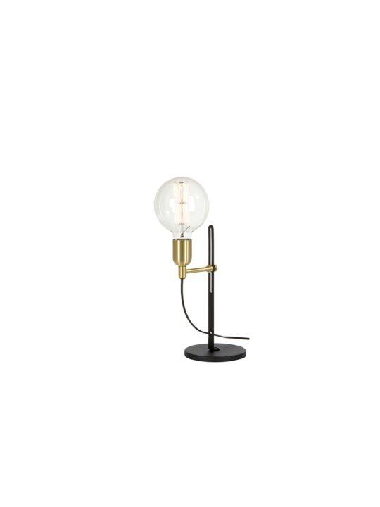 Belid Tischleuchte Regal mit nackter Glühbirne Designort Onlineshop Leuchten