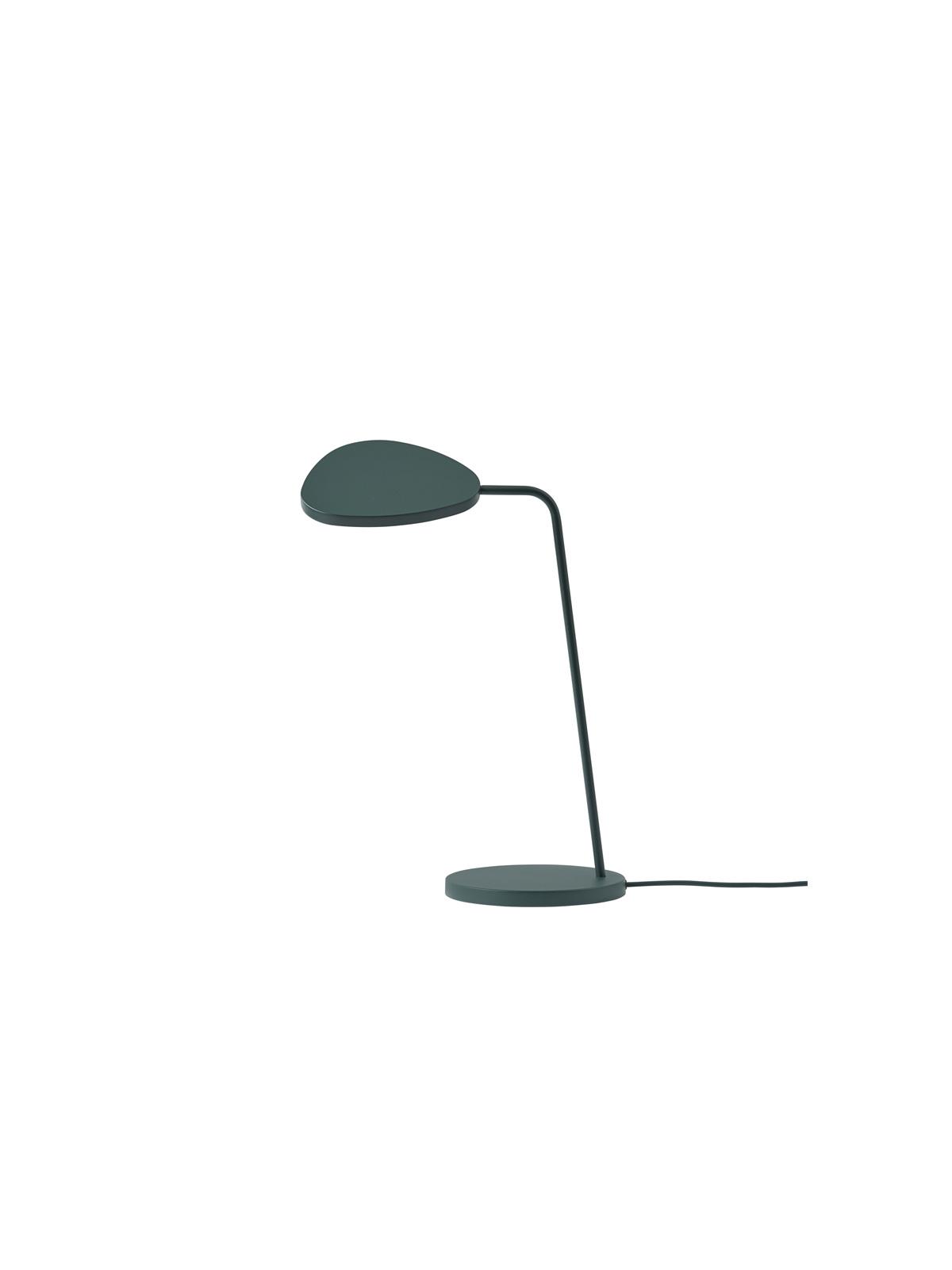 Leaf Table Tischleuchte LED Leselicht Muuto Dunkelgrün